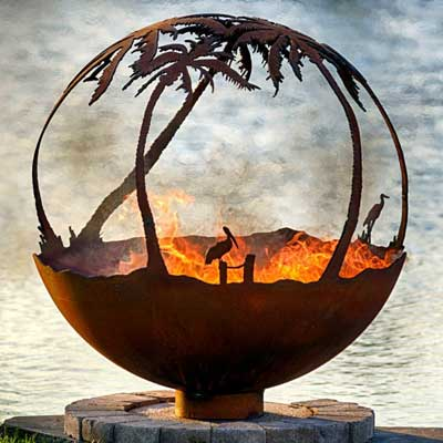 Outdoor Gas Fire Pits non gas sphere Day in Paradise