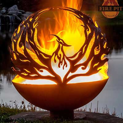 Outdoor Gas Fire Pits non gas sphere Phoenix Rising