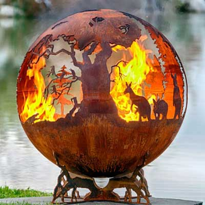 Outdoor Gas Fire Pits non gas sphere down under