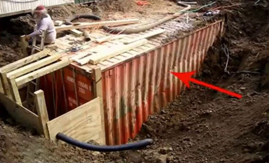 how to build an underground bunker container