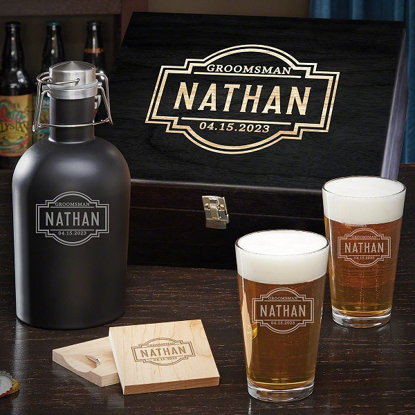Fremont-Boxed Personalized Beer Pint Glasses Set of 2
