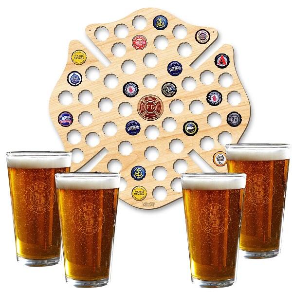 Maltese Cross Personalized Beer Pint Glasses Set of 4