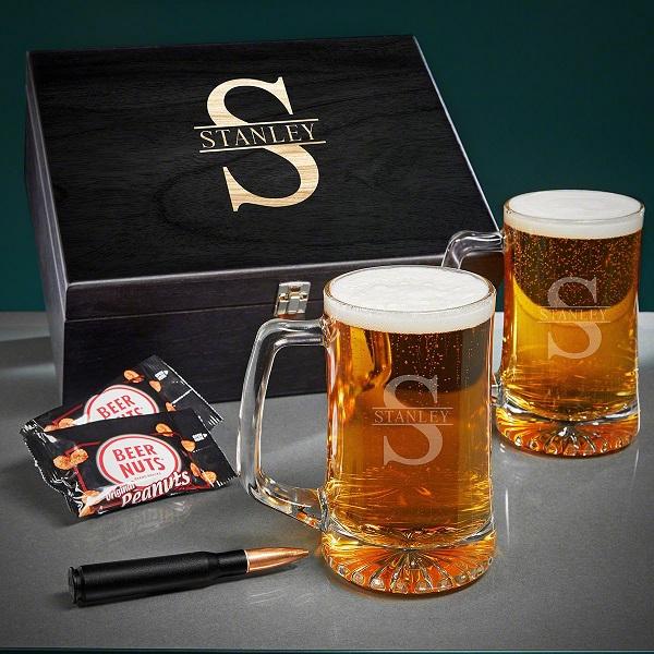 Oakmont Bullet Personalized Beer Pint Glasses Set of 2