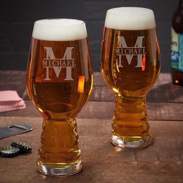 Oakmont Speigelau Personalized Beer Pint Glasses Set of 2