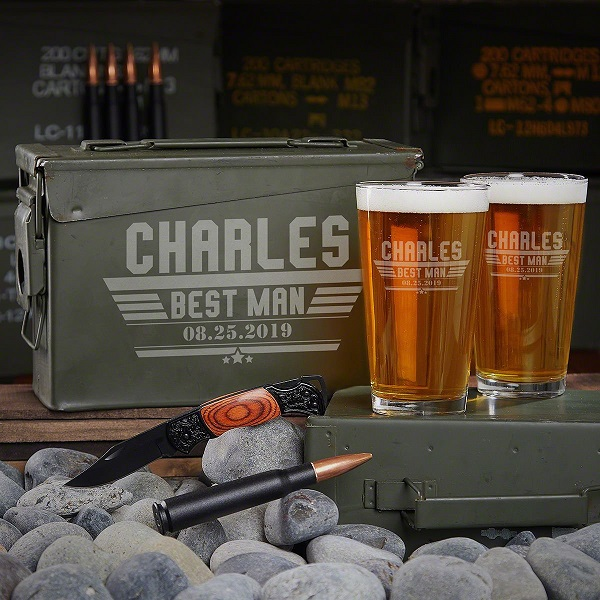 Maverick Personalized Beer Pint Glasses Set