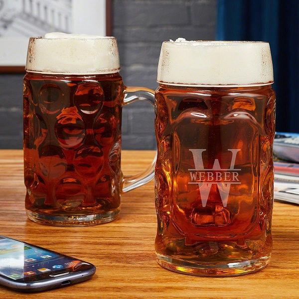 Oakmont Personalized Beer Dimple Pint and Stein Glasses