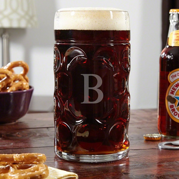 Oktoberfest Personalized Beer Dimple Stein Glass