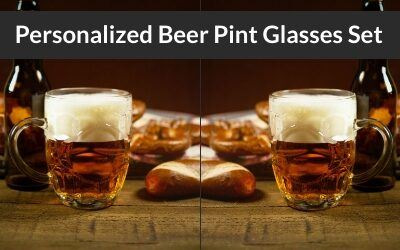 9 Personalized Beer Pint Glasses Set of 4 or 2